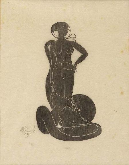 EDWARD GORDON CRAIG (1872-1966) EVE 21.5cm x 16cm