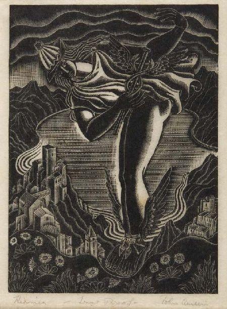 JOHN AUSTEN (1886 - 1948) HERMES 19cm x 14cm