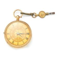 An 18ct gold cased watch Dial diameter: 36mm