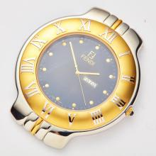 FENDI - A stainless steel and gilt travel watch