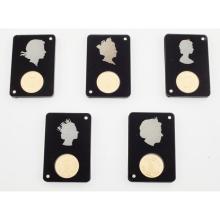 TRISTAN DA CUNHA - A cased gold proof set of sovereigns
