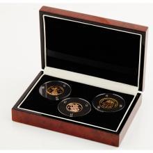 G.B., E.I.C. - A set of three proof gold coins