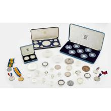 VARIOUS - A large group of modern proof silver coins