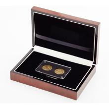 FRANCE, G.B. - A cased pair of 20 Franc coins