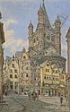 FRANZ ALT (1821-1914) THE CHURCH OF GREAT ST. MARTIN, COLOGNE 26.5 cm x 17cm, Franz (1821) Alt, Click for value