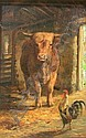 JOSEPH DENOVAN ADAM R.S.A., R.S.W. (1842-1896) IN THE BARN 52cm x 33cm, Joseph Denovan (1842) Adam, Click for value