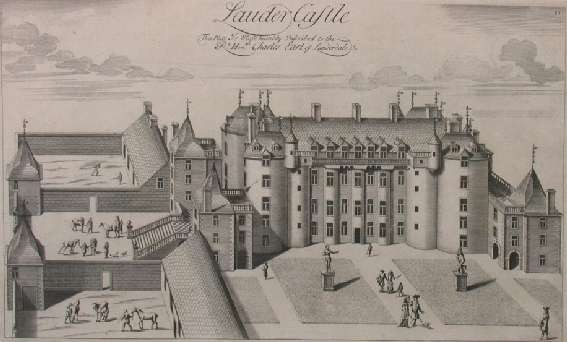 ROBERT WHITE (1645-1703) LAUDER CASTLE 29cm x 45cm and three others by the same hand, of similar size (4)