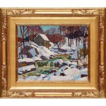 CARL WILLIAM PETERS (AMERICAN 1897-1980) WINTER THAW 41cm x 51cm (16in x 20in)