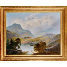 GEORGE BLACKIE STICKS (BRITISH 1843-1928) DUNCRAGGAN AND GLENFINLAS 71cm x 91cm (28in x 36in)