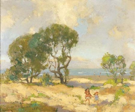 SPENCE SMITH (1880-1951) THE SAND DUNES, PORT SETON 50cm x 61cm (20in x 24in)