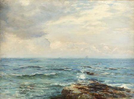 GEORGE OGILVY REID R.S.A. (1851-1928) ON THE FIFESHIRE COAST 55cm x 76cm (21.5in x 30in)