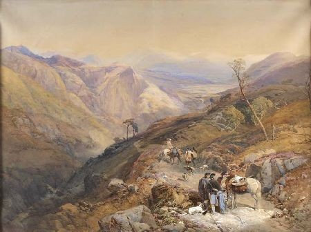 THOMAS MILES RICHARDSON (1813-1890) GLENSHEE FROM THE DEVILS ELBOW 76cm x 100cm (30in x 39.5in)