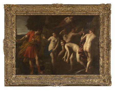 ALESSANDRO TURCHI (1578-1649) DIANA AND ACTAEON 100cm x 135cm