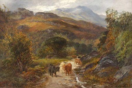 CLARENCE ROE (FL.1870-1909) ARI BAHN AND BALLOCH GRODICH, KENN DHROCID 61cm x 91cm (24in x 36in)