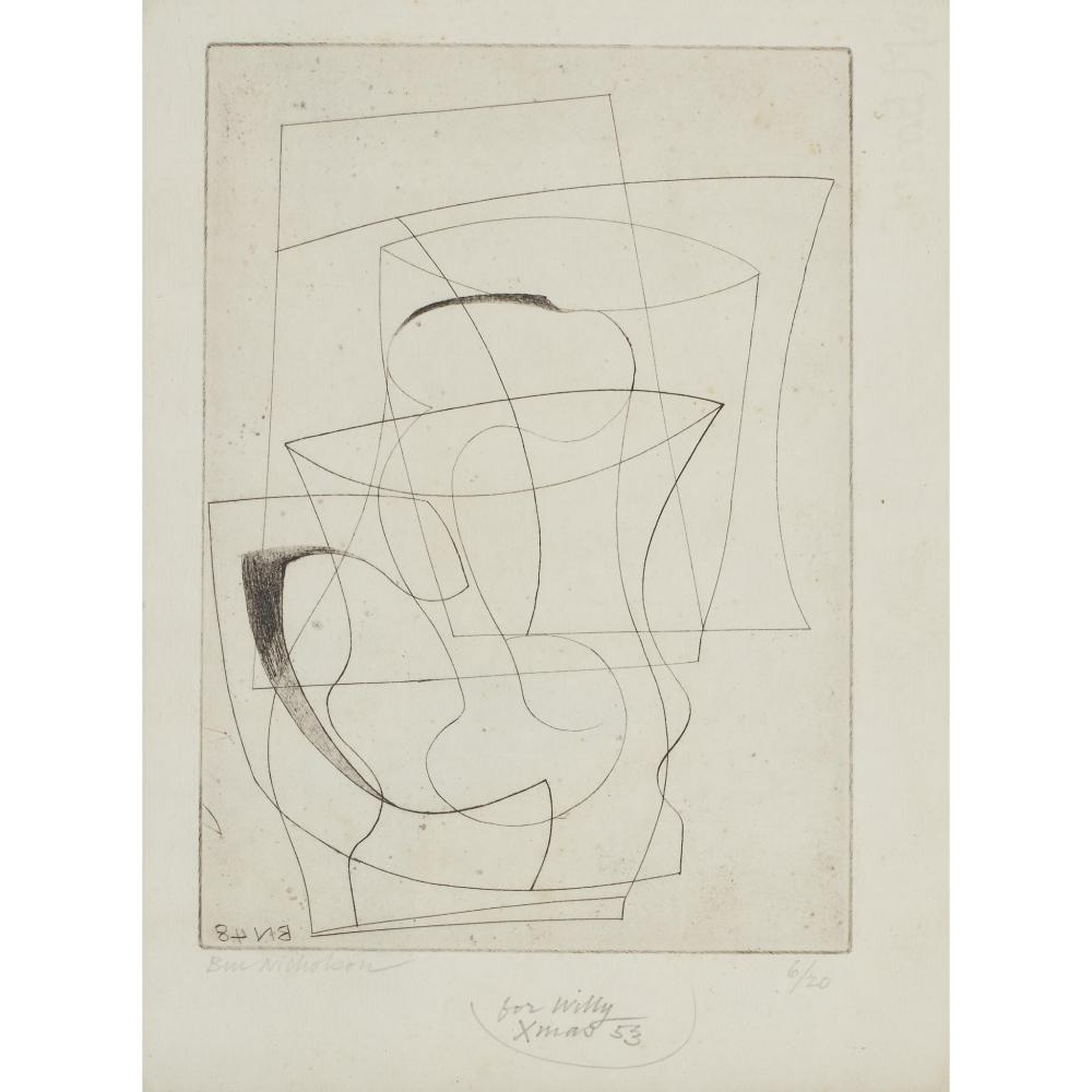 § BEN NICHOLSON O.M. (BRITISH 1894-1982) JUG & GLASS, 1948
