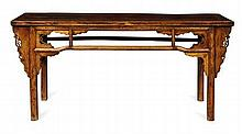 CHINESE ELM ALTAR TABLE QING DYNASTY 186cm long, 86cm high, 47cm deep