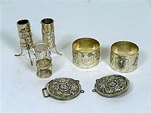 COLLECTION OF CHINESE EXPORT SILVER