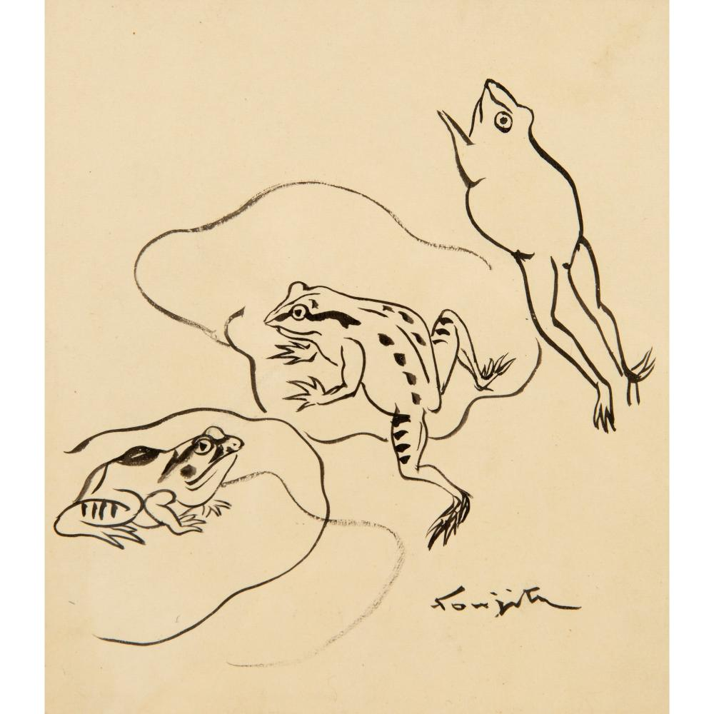 § Tsuguharu Foujita (French / Japanese 1886-1968) Frogs