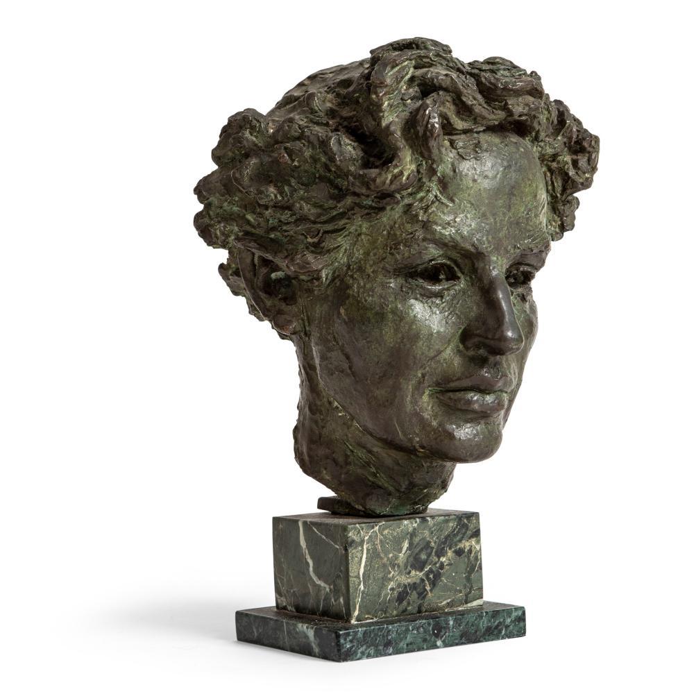 § José Manuel De Alberdi (Spanish 1922-2008) Portrait Head of a Man, 1954