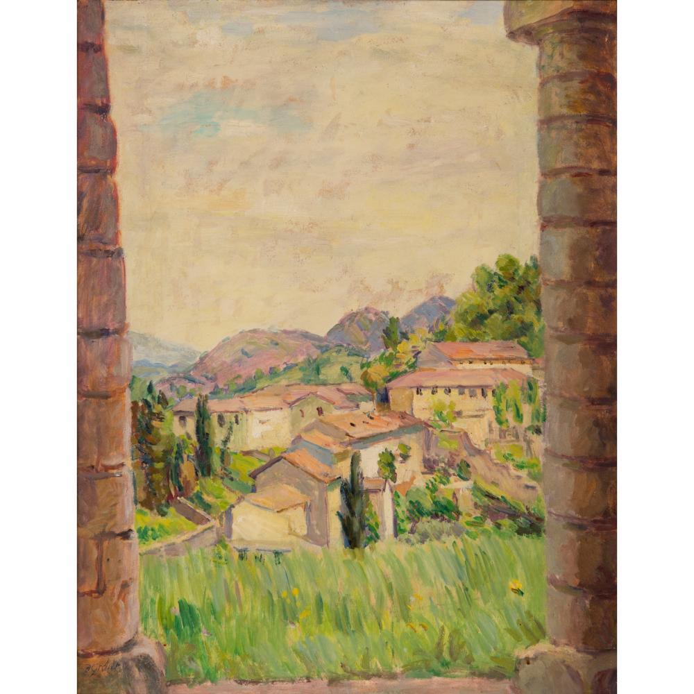 § Duncan Grant (British 1885-1978) View Between Pillars, Asolo, Italy