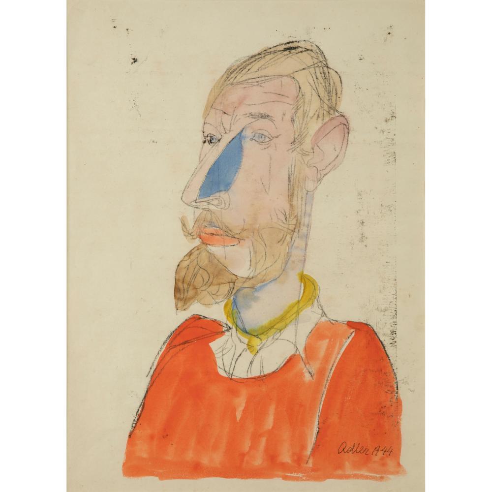 § Jankel Adler (Polish 1895-1949) Portrait of de Borgraves, 1944