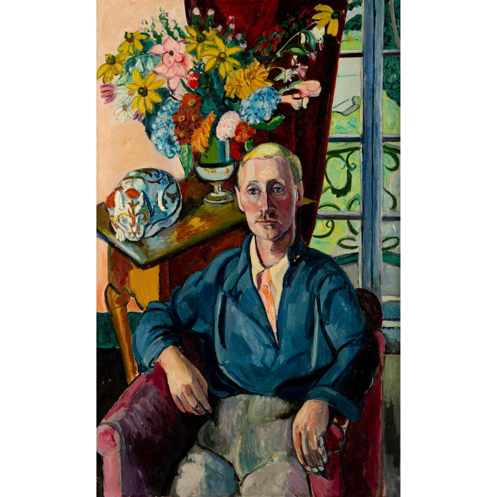 § Edward Wolfe R.A. (South African/British 1897-1982) Portrait of Jim Wylie at Portmeirion