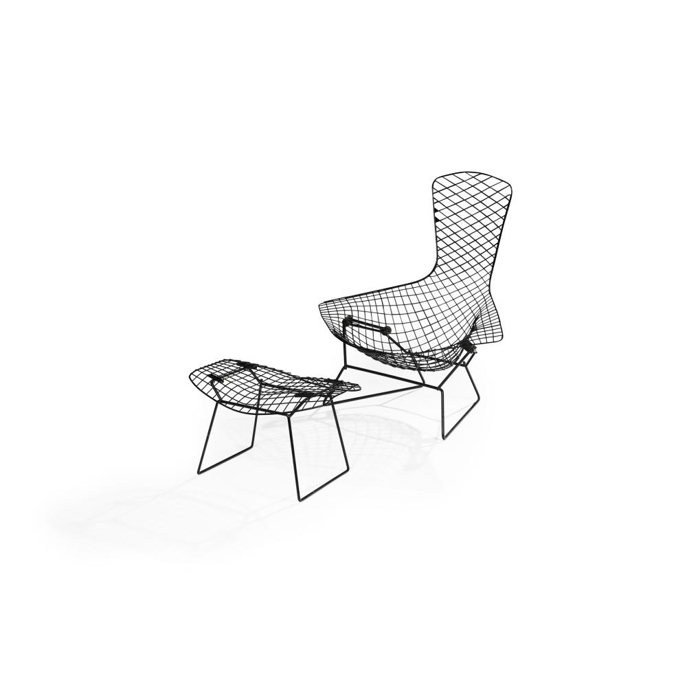 Harry Bertoia (American 1915-1978) Bird Chair and Ottoman, designed 1952