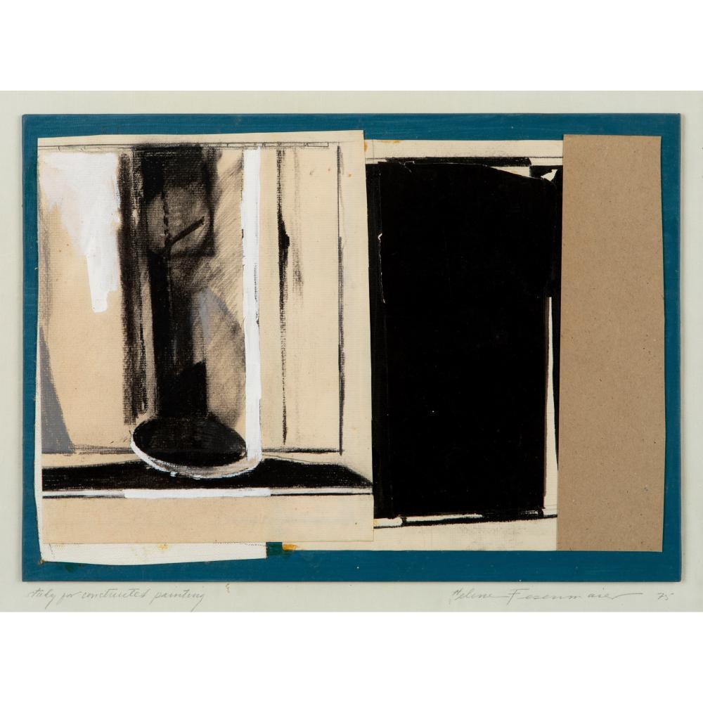 Helene Fesenmaier (American 1937-2013) Study for a Constructed Painting, 1975