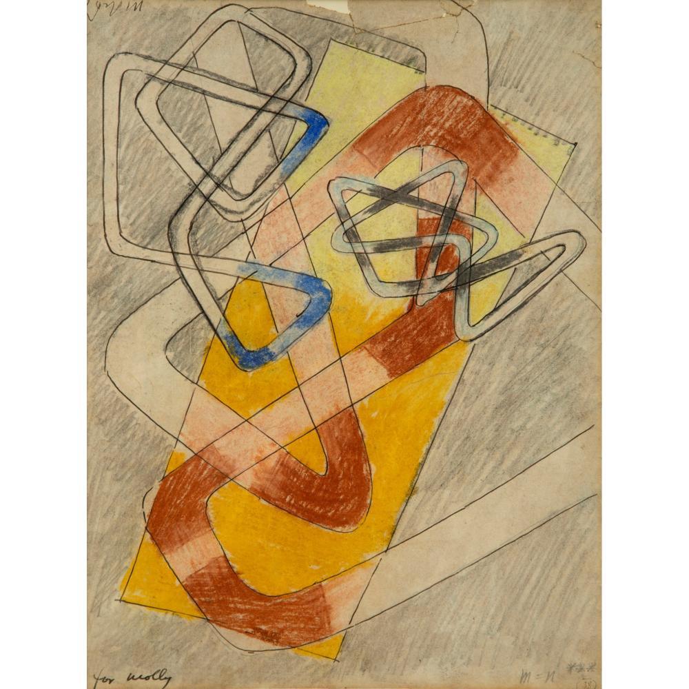 László Moholy-Nagy (Hungarian 1895-1946) Composition, 1938