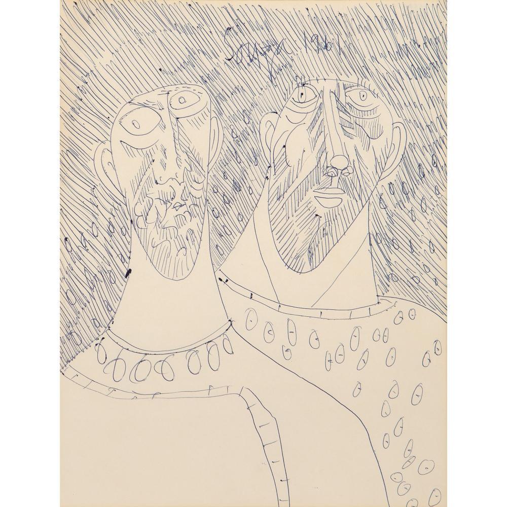 § Francis Newton Souza (Indian 1924-2002) Two Heads, 1961