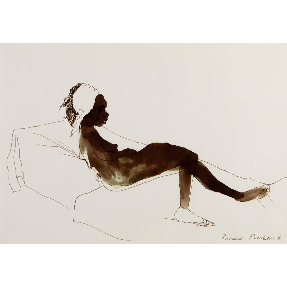 § Patrick Proctor (British 1936-2003) Nude Reclining, 1986
