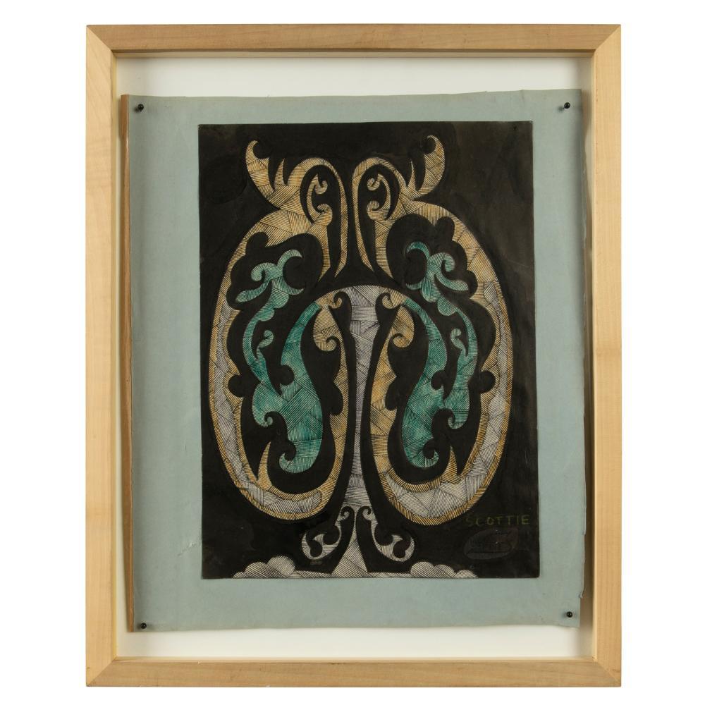 § Scottie Wilson (British 1890-1972) Mask