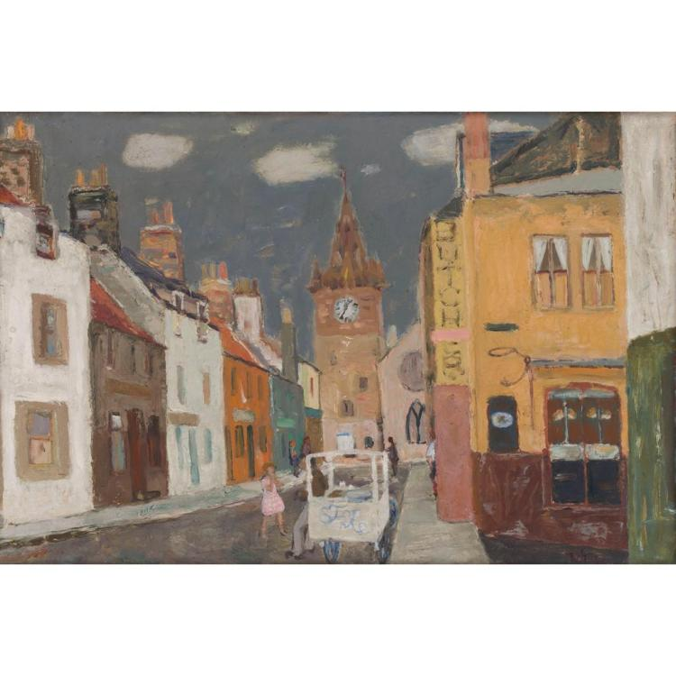 [§] SIR WILLIAM GEORGE GILLIES C.B.E., R.A., R.S.A., P.P.R.S.W., L.L.D. (SCOTTISH 1898-1973) PITTENWEEM 61cm x 91.5cm (24in x 36in)