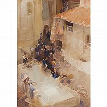 [§] SIR WILLIAM RUSSELL FLINT P.R.A., P.R.W.S., R.S.W., R.O.I., R.E. (SCOTTISH 1880-1969) AMAZONS OF ANTIBES 67cm x 50cm (26.5in x 1...