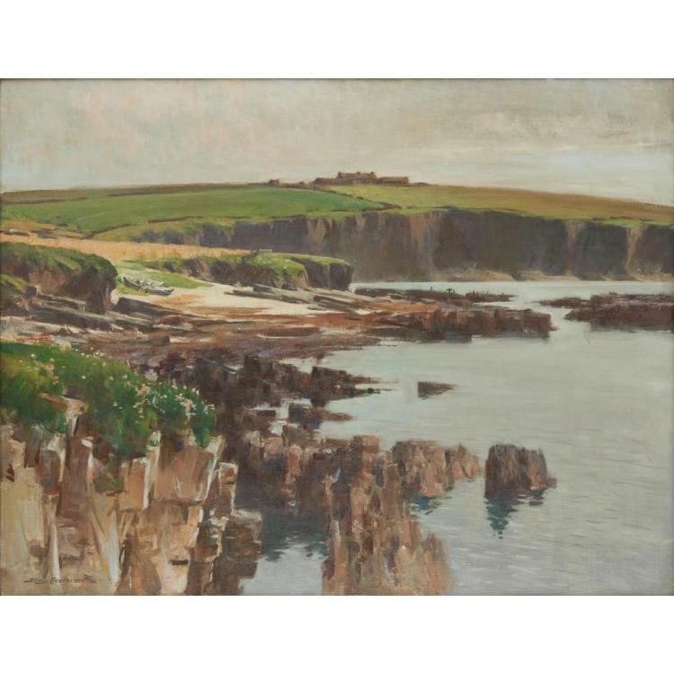 [§] STANLEY CURSITER C.B.E., R.S.A., R.S.W. (SCOTTISH 1887-1976) AN ISLAND FARM, ODDNESS, STRONSAY 71cm x 91cm (28in x 36in)