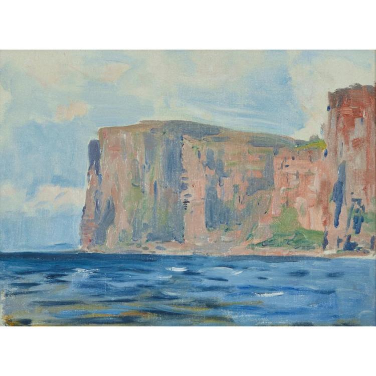 [§] STANLEY CURSITER C.B.E., R.S.A., R.S.W. (SCOTTISH 1887-1976) ST JOHN''S HEAD 33cm x 38cm (11in x 15in)