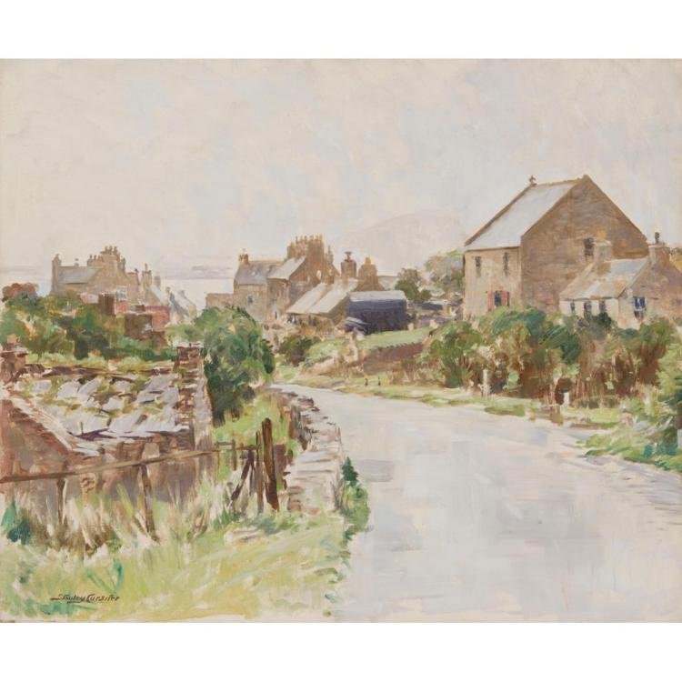 [§] STANLEY CURSITER C.B.E., R.S.A., R.S.W. (SCOTTISH 1887-1976) FINSTOWN, ORKNEY 51cm x 61cm (20in x 24in)