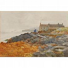 TOM SCOTT (SCOTTISH 1854-1927) NEAR STROMNESS, ORKNEY 31.5cm x 47cm (12.5in x 18.5in)