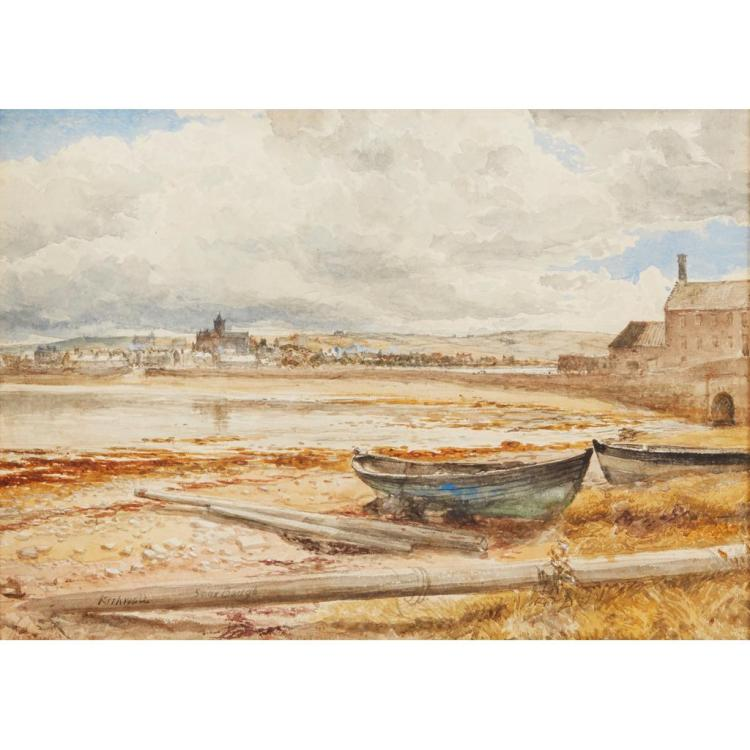 SAM BOUGH R.S.A. (SCOTTISH 1822-1878) KIRKWALL 25.5cm x 36cm (10in x 14in)