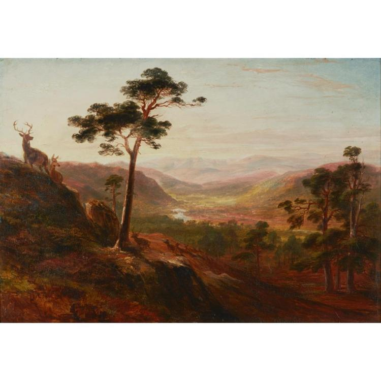 JAMES WILLIAM GILES (SCOTTISH 1801-1870) GLEN FARQUHAR 35cm x 50cm (13.75in x 19.75in)