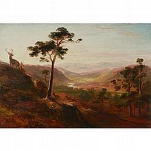 JAMES WILLIAM GILES (SCOTTISH 1801-1870) GLEN FARQUHAR 35cm x 50cm (13.75in x 19.75in)