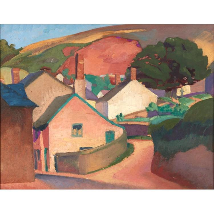[§] WILLIAM MCCANCE (SCOTTISH 1894-1970) TIMBERSCOMBE, SOMERSET 31.5cm x 40cm (12.25in x 15.75in)
