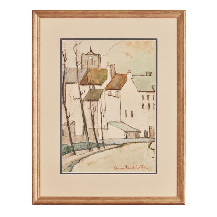[§] ANNE REDPATH O.B.E., A.R.A., R.S.A., L.L.D., A.R.W.S., R.O.I., R.B.A. (SCOTTISH 1895-1965) STREET SCENE IN CASSEL 34cm x 24cm (1...