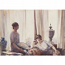 [§] STANLEY CURSITER C.B.E., R.S.A., R.S.W. (SCOTTISH 1887-1976) AFTERNOON REST 25.5cm x 35.5cm (10in x 14in)