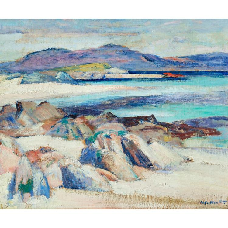 [§] WILLIAM MERVYN GLASS R.S.A., P.S.S.A. (SCOTTISH 1885-1965) ULVA FROM IONA 38cm x 46cm (15in x 18in)