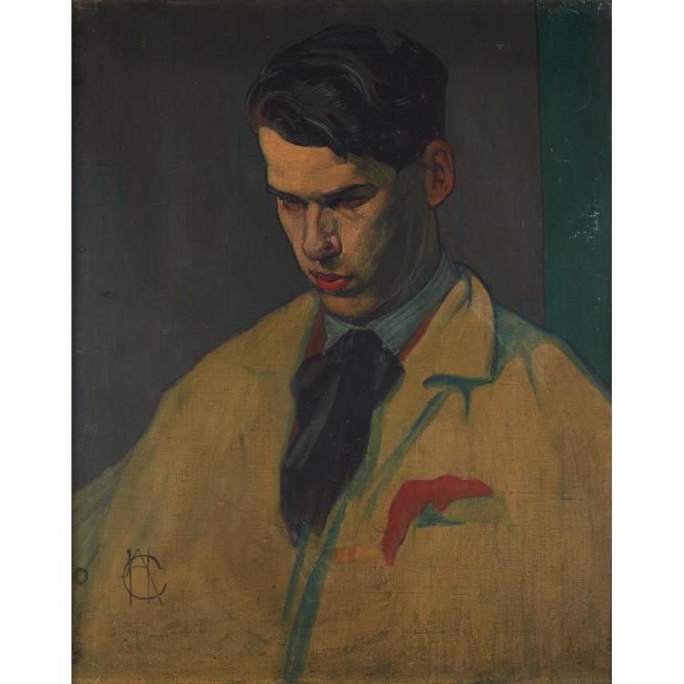 [§] HUGH ADAM CRAWFORD R.S.A. (SCOTTISH 1898-1982) PORTRAIT OF WILLIAM ARMOUR 63.5cm x 51cm (25in x 20in)
