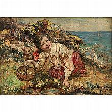 EDWARD ATKINSON HORNEL ( SCOTTISH 1864-1933) A RARE POSY 25.5cm x 36cm (10in x 14in)