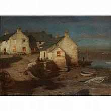 WILLIAM STEWART MACGEORGE R.S.A. (SCOTTISH 1861-1931) THE HARBOUR, KIRKCUDBRIGHT 56cm x 77cm (22in x 30.5in)