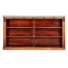 WILLIAM IV ROSEWOOD LOW OPEN BOOKCASE EARLY 19TH CENTURY 189.5cm long, 99cm high, 28cm deep