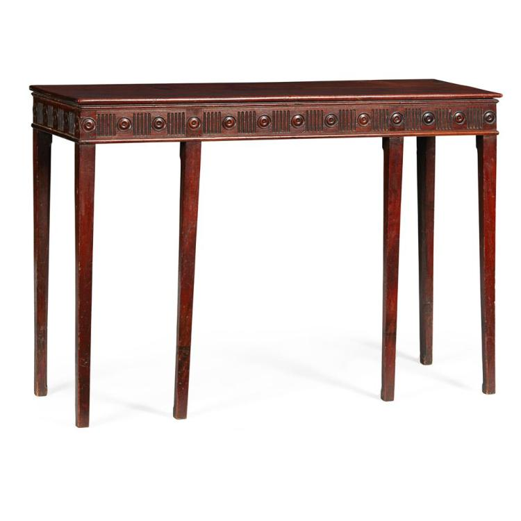 GEORGE III MAHOGANY CONSOLE TABLE 18TH CENTURY 118cm long, 83cm high, 39.5cm deep